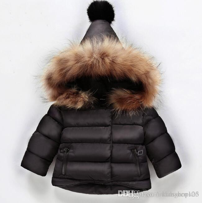 5ddda4e54fef 2019 Girl Winter Warm Down Jacket Parka for Girls Boys Coats Down ...
