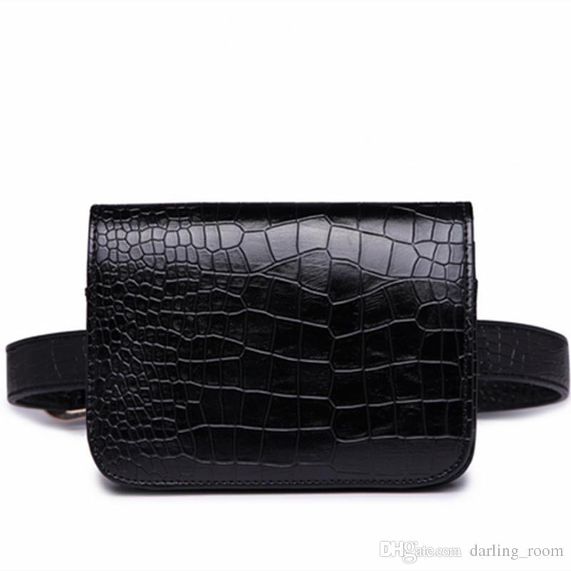 c7f197a13 Compre Moda 2018 Mujeres PU Cuero Paquete De La Cintura Del Bolso De Las  Señoras Cocodrilo Mini Paquete De La Cintura De Viaje Carteras De Las  Señoras De ...