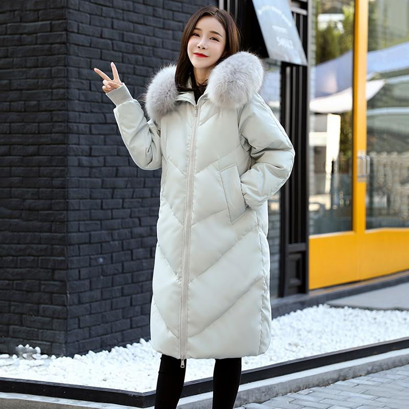 ce375ac58 Plus size 6xl Parka Coat Women Natural Fur 2018 New Winter coats Thicken  Big Warm Female Jacket Hooded Raccoon Fur Jacket