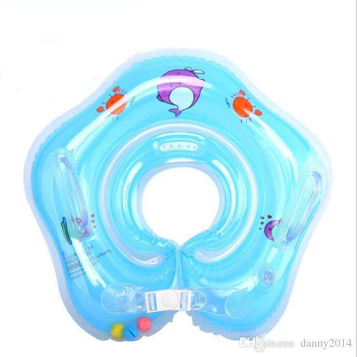 Newborn inflatable neck swimming ring baby swim floats adjusted baby Inflatable Tube Ring Safety swim pool toy