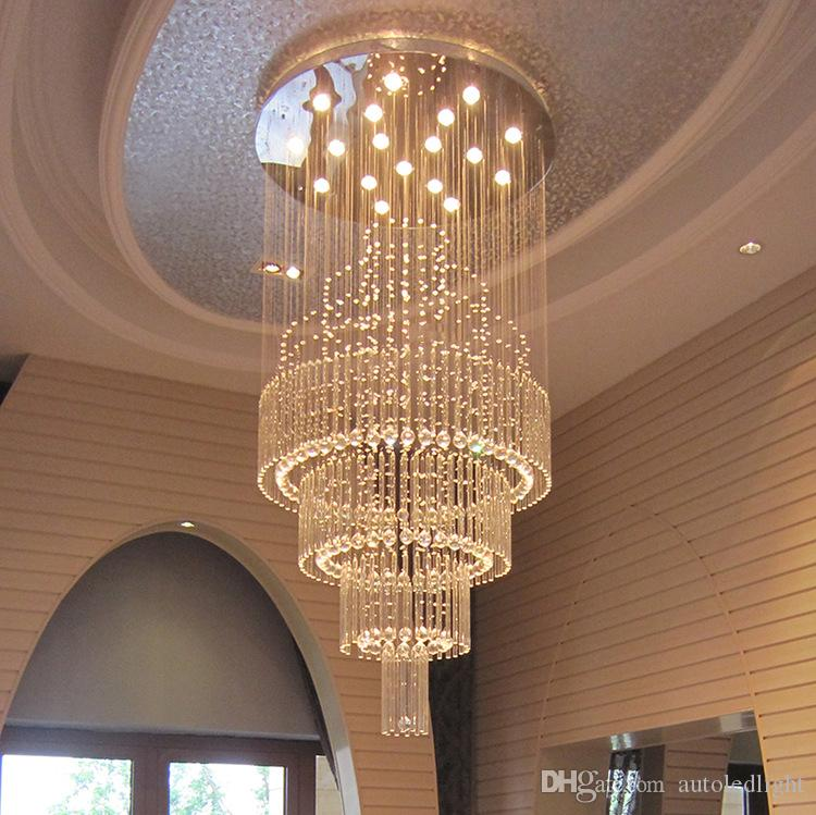 Modern LED Pendant Light Art Design Living Room Dining Chandeliers K9 Crystal Fixtures AC110 240V Ceiling Lamps Lighting Chandelier Shade