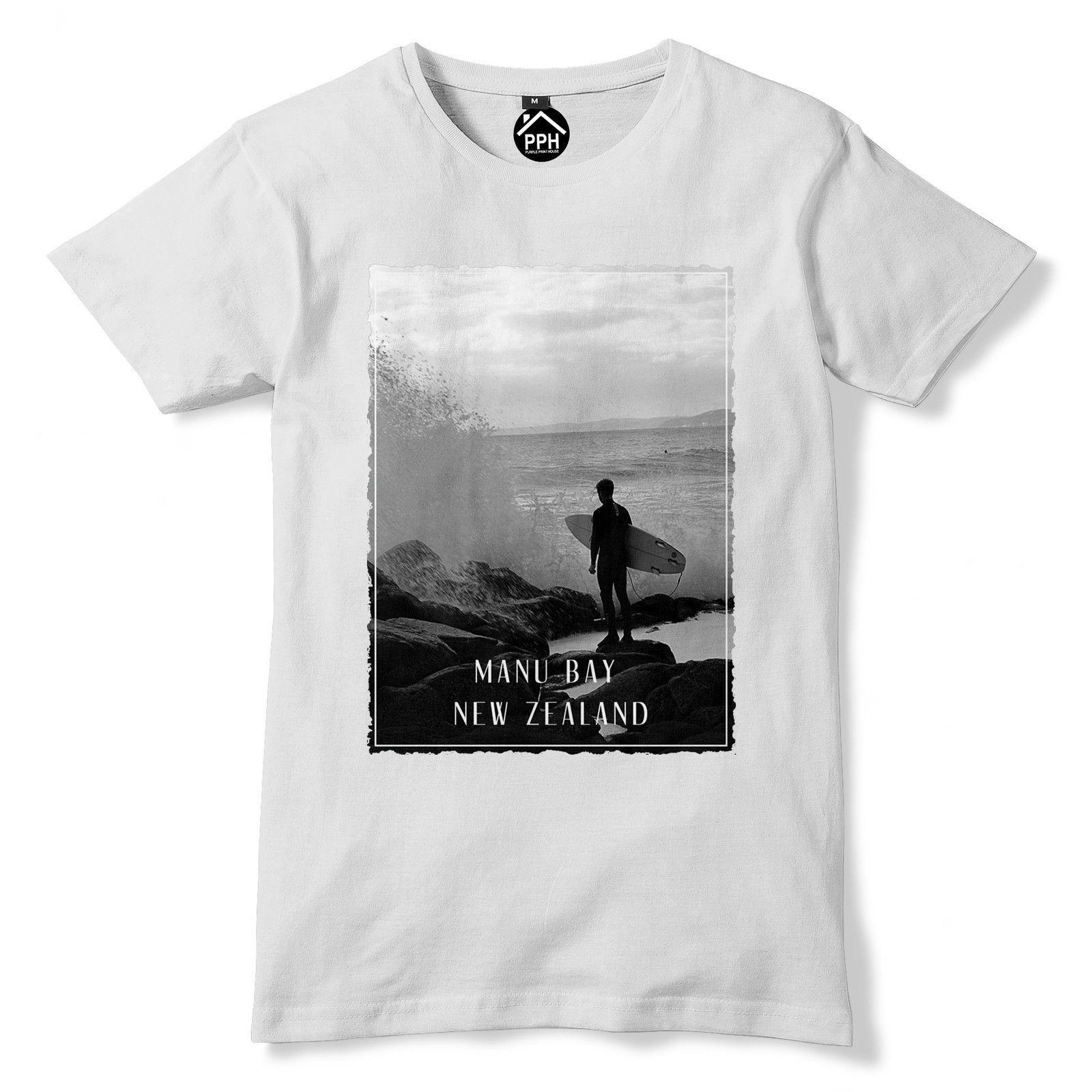 afb180efa Manu Bay New Zealand T Shirt Surfer Board Mens Top Famous Surfinger T Shirt  Sleeve T Shirt Summer Men Tee Tops Clothing