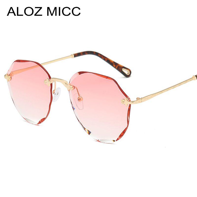 Lunettes De Soleil Aloz Haute Femme Micc Bleu Sans Nouveau Rose Gradient Qualité Mode Femmes Uv400 Monture Océan Oculos A630 rstdhQC