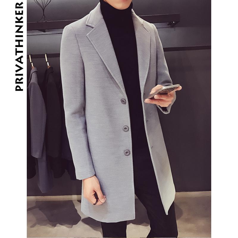 a9cfd8cd4f0 2019 Men Wool Coat 2018 Mens Winter Jackets Turndown Collar Overcoat Coats  Male Solid Windbreaker Trench Coat Plus Size From Sandlucy
