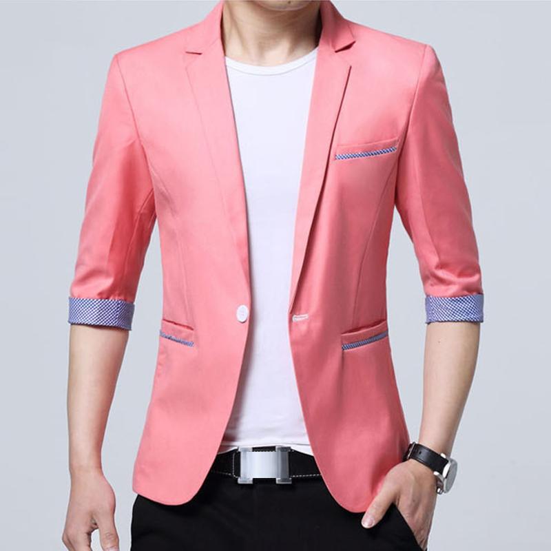 09ad5c70d5a 2019 New Popular Design Mens Brand Half Sleeve Designer Men Blazer Jacket  Coats Slim Fit Suit Stylish Thin Blazers Mz403 From Red2015