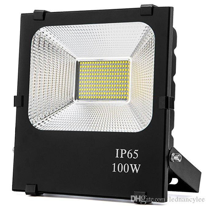 LED Taşkın Işık, 100W 500W Halojen Equiv, IP65 Suya Dayanıklı Açık Çalışma Lambaları, 6500K Günışığı Beyaz, Garaj, Bahçe için Açık Projektör