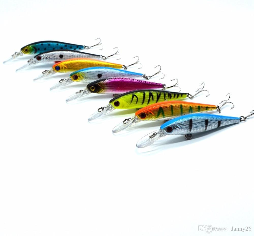 10cm// 9.4g Crankbaits Tackle Useful Fishing Minnow Baits Lures Fish Hooks