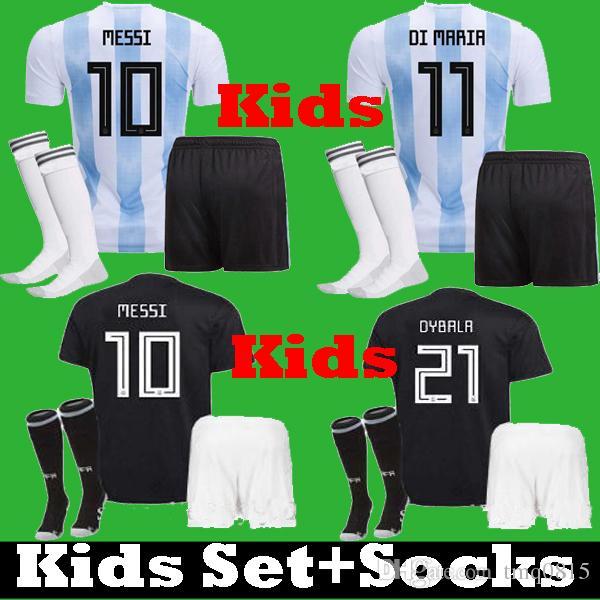 Compre 2018 Niños Argentina MESSI DYBALA ICARDI Conjunto De Camisetas De  Fútbol 2019 Niño Argentina Kits DI MARIA LAVEZZI MASCHERANO Camisetas De  Fútbol A ... d758d5b6d0cb9