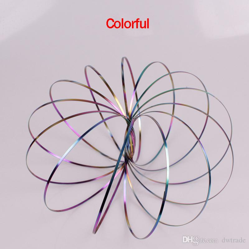 Flow Ring Mulity Colors Spinner Stainless 304 Toroflux Arm Toy Interactive Cool Toys Decompression Toys Kinetic Spring Bracelet Science Tool