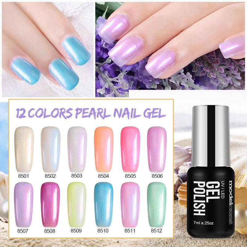 Modelones Nail Gel Polish Led Lamp Soak Off Manicure Gel Nail Polish 7ml Nail Art Shell Led Nail Gel Varnish Long Lasting Glue Nail Gel