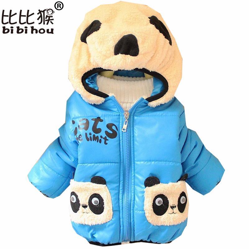 online store 07c68 478ce Weihnachten Winter Jacke Kinder Panda Cartoon Kinder Winter Jacken für  Mädchen dicke Baby Hoodies Jacke Mädchen Kleidung Oberbekleidung