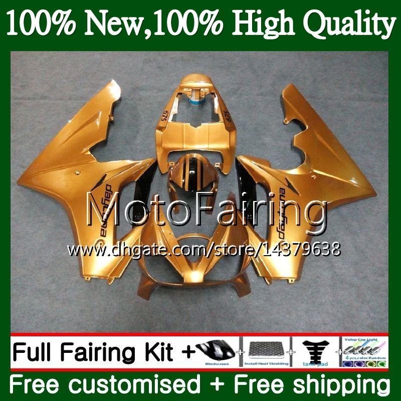 Body For Triumph Daytona 675 02 03 04 05 06 07 08 7MF13 Daytona 675 2002 2003 2004 2005 2006 2007 2008 02-08 Glossy Gold Fairing Carrocería