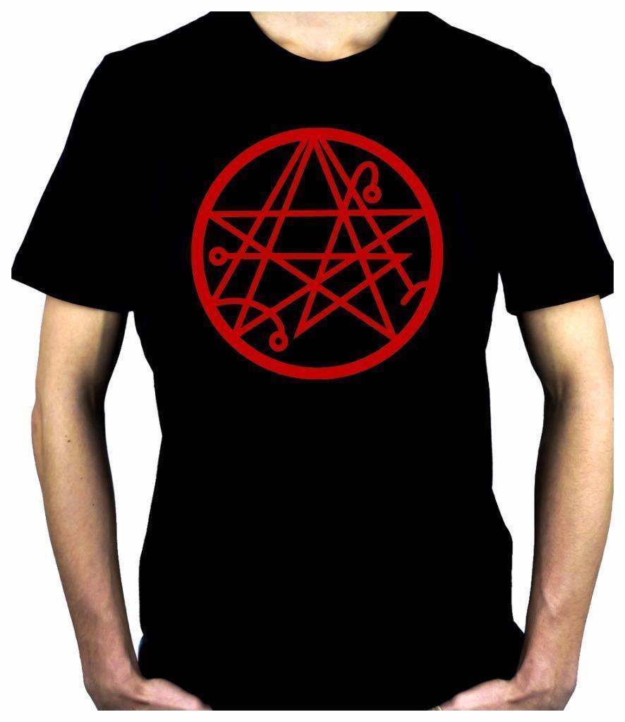 Necronomicon Gate Alchemy Symbol Men s T-Shirt Occult Clothing H P   Lovecraft Classic Quality High free shipping t-shirt