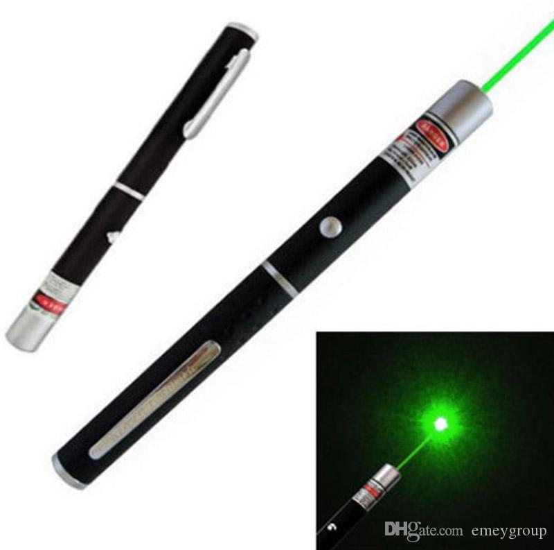 5mW 532n Green Red purple light Laser open Beam Laser Pointer Pen For SOS Mounting Night Hunting teaching Xmas gift Opp Package DHL
