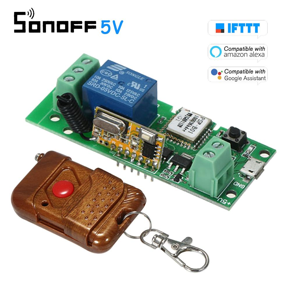 Sonoff USB DC5V 433Mhz Wifi Switch Wireless Relay Module Smart Home  Automation Modules Phone APP Remote Control Switch