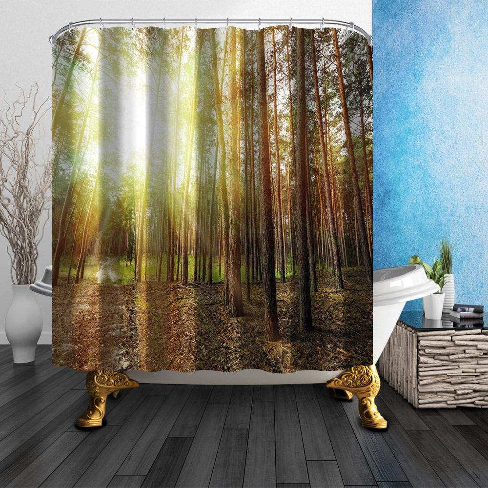 Printing Polyester Shower Curtain Waterproof Bathroom Curtain With Hooks  Home Decor Bathroom Accessory Anchor Tree Sunshine Shower Curtains Cheap  Shower ...