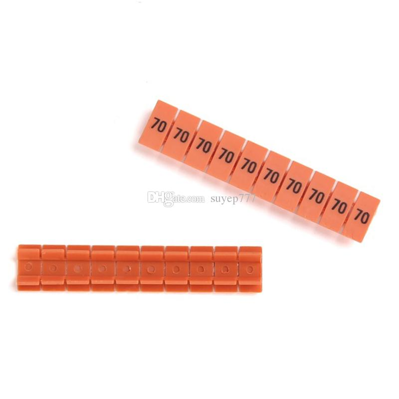 ZB8 Numbers Strip Markers for Rail Mounted Terminal Blocks UK-6N