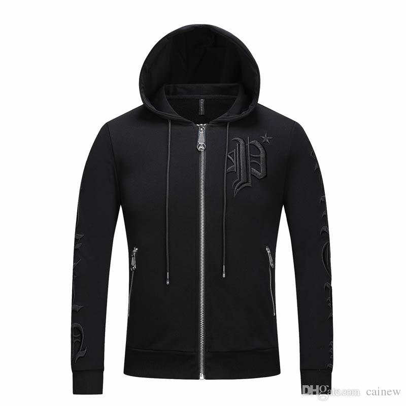 53346d1d0 Men's Hoodies Zipper Cardigan Coats Autumn Hooded Sweatshirt Long Sleeve  #231 PP Male Embroidery Streetwear Casual Running Cotton Clothing Online  with ...