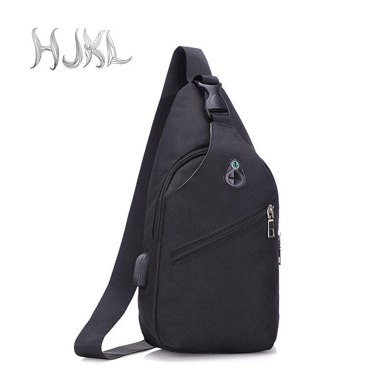 Hjkl Mens Fashion Urban Boys Backpack Leisure Chest Pack Bags Men