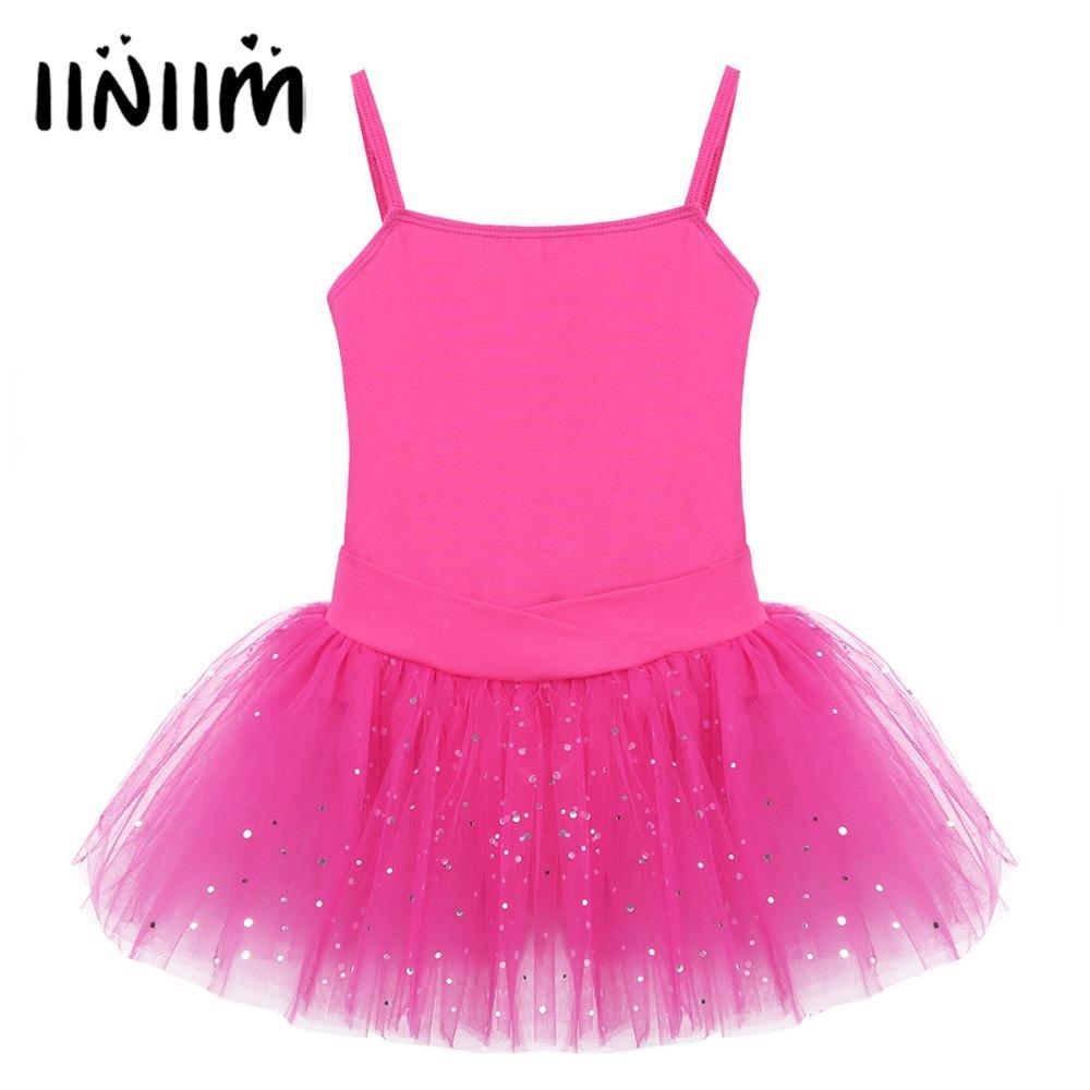 Girls Sequins Sleeveless Bow Glitter Tulle Ballet Dancewear Ballet  Gymnastics Leotard for Kids Performance Costume Fancy Dress Leotard Dress  Tutu Ballet ... 23b73ed5b3c6