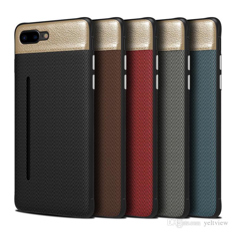 3db7bb89049 Fundas Para Celulares Personalizadas Para IPhone Xr X Xs Max 7 8 6s Plus  Funda Antideslizante De Cuero Para Teléfono Con Ranura Para Tarjetas Con  Cubierta ...