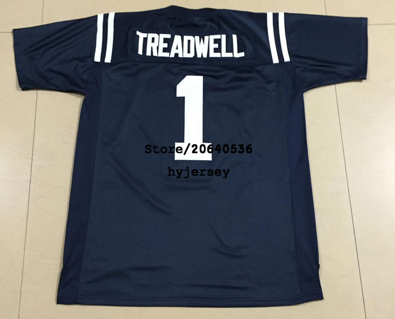 brand new 2b69a f75fa Cheap Mens Ole Miss College #1 Laquon Treadwell football Jersey Navy blue  White Red Stitching Jerseys free shipping