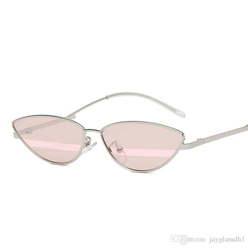 d9dc0b9d10fff Small Cat Eye Metal Sunglasses Women 2018 Fashion Sexy Cat Eye Sun Glasses  For Women Summer Accessories Metal Frame Candy Color Designer Sunglasses ...