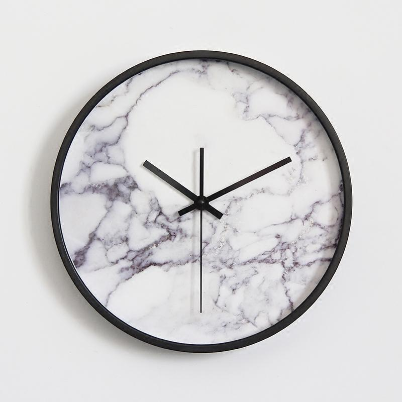 Marble Pattern Wall Clock Fashionable Vogue European Luxury Unique