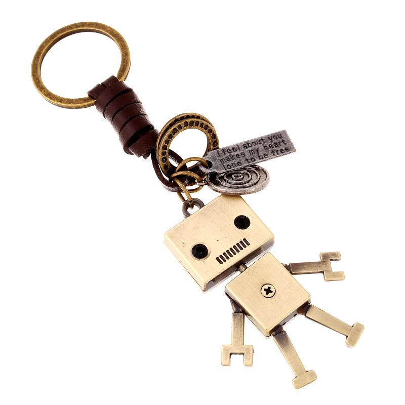 Creative Robot Charms Keychain Car Bags Keyfob Punk Leather Keyring For  Women Men Children Kids Key Chains Rings Holder Jewelry Custom Key Chains  Keychain ... 436572bcef