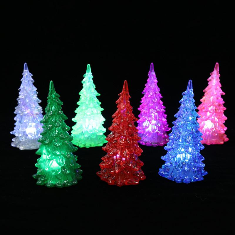 Led Christmas Tree Decorations Changing Night Lamp New Year Decor Festive  Party Accessories Supplies Colorful Mini LED Lighting Up Novelty Christmas  Toy ... - Led Christmas Tree Decorations Changing Night Lamp New Year Decor