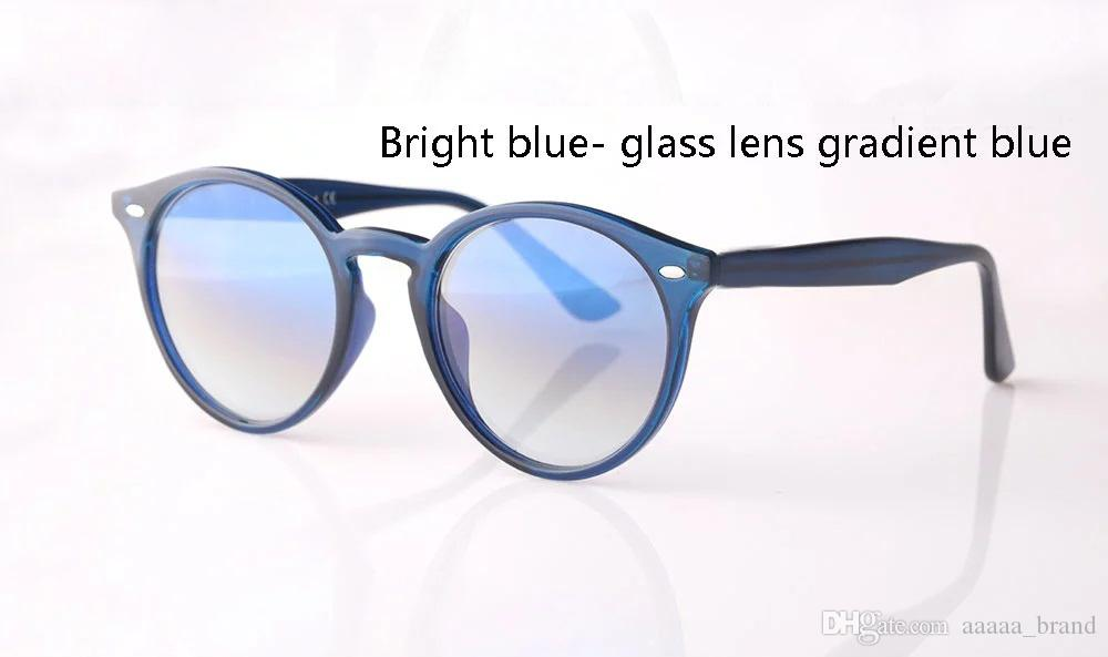 New Arrial sunglasses women men Round plank frame Metal hinge glass lens Retro Vintage sun glasses Goggle with box and cases
