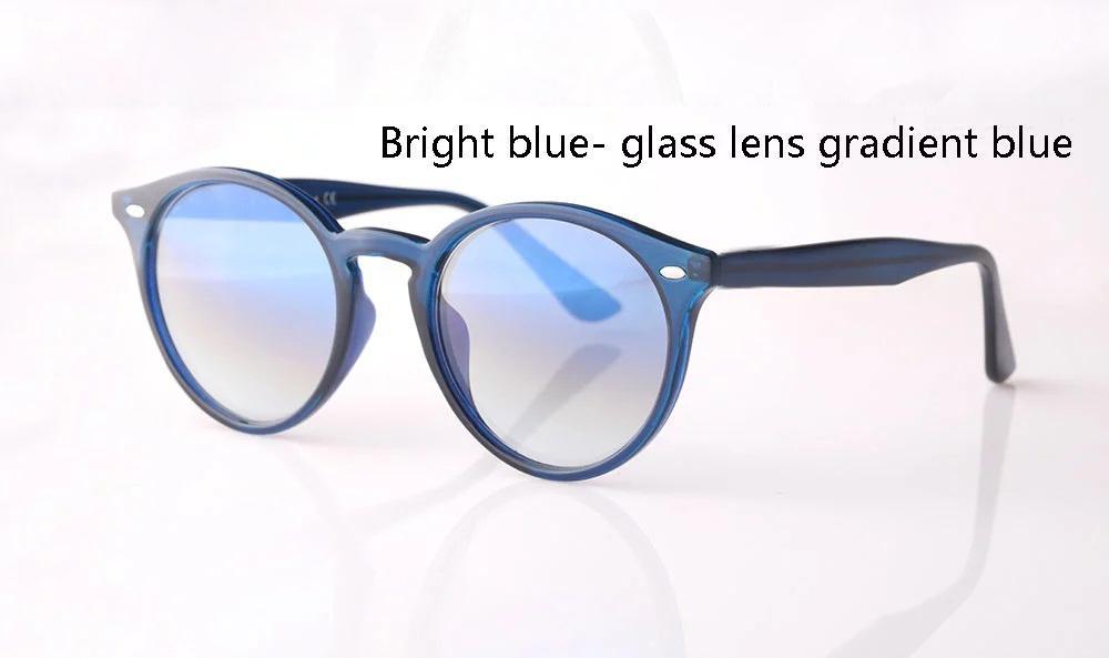 Nueva Arrial mujeres gafas de sol de los hombres Marco redondo tablón de metal lente de cristal bisagra retro gafas de sol gafas con la caja y los casos