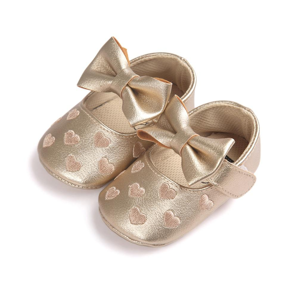 de2f45ae5887c 2017 Pu Leather Golden Infant Shoes For Newborn Baby Girls Boys With Age 0~18  Month Bx305 Girls In Leather Boots Baby Boy Leather Boots From Coolhi