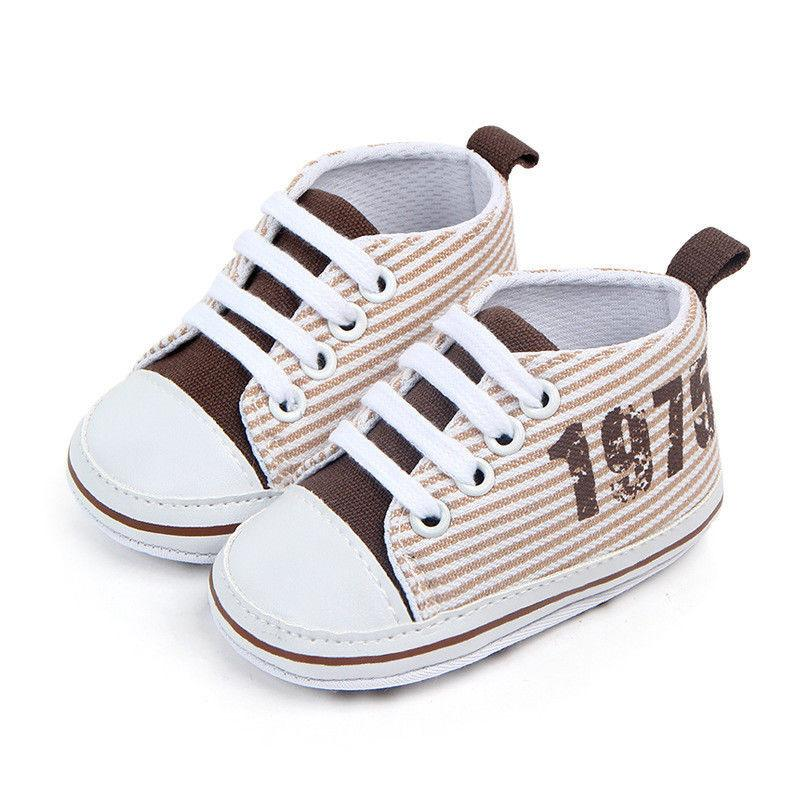 Toddler Infant Baby Girls Boys Cute Striped Shoes Soft Sole Prewalker Shoes  First Walkers Walk Learning Fashion Baby UK 2019 From Universecp 2017a28a3569