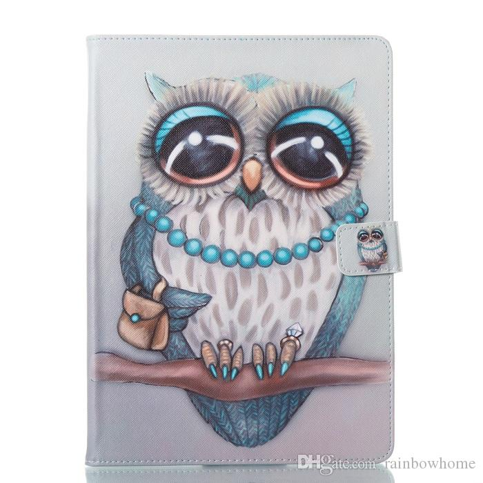 Butterfly Owl Flower PU Leather Stand Wallet Case for for iPad 10.2 inch 2019 7th Gen Mini 2345 New ipad 2017 2018 Samsung Tab