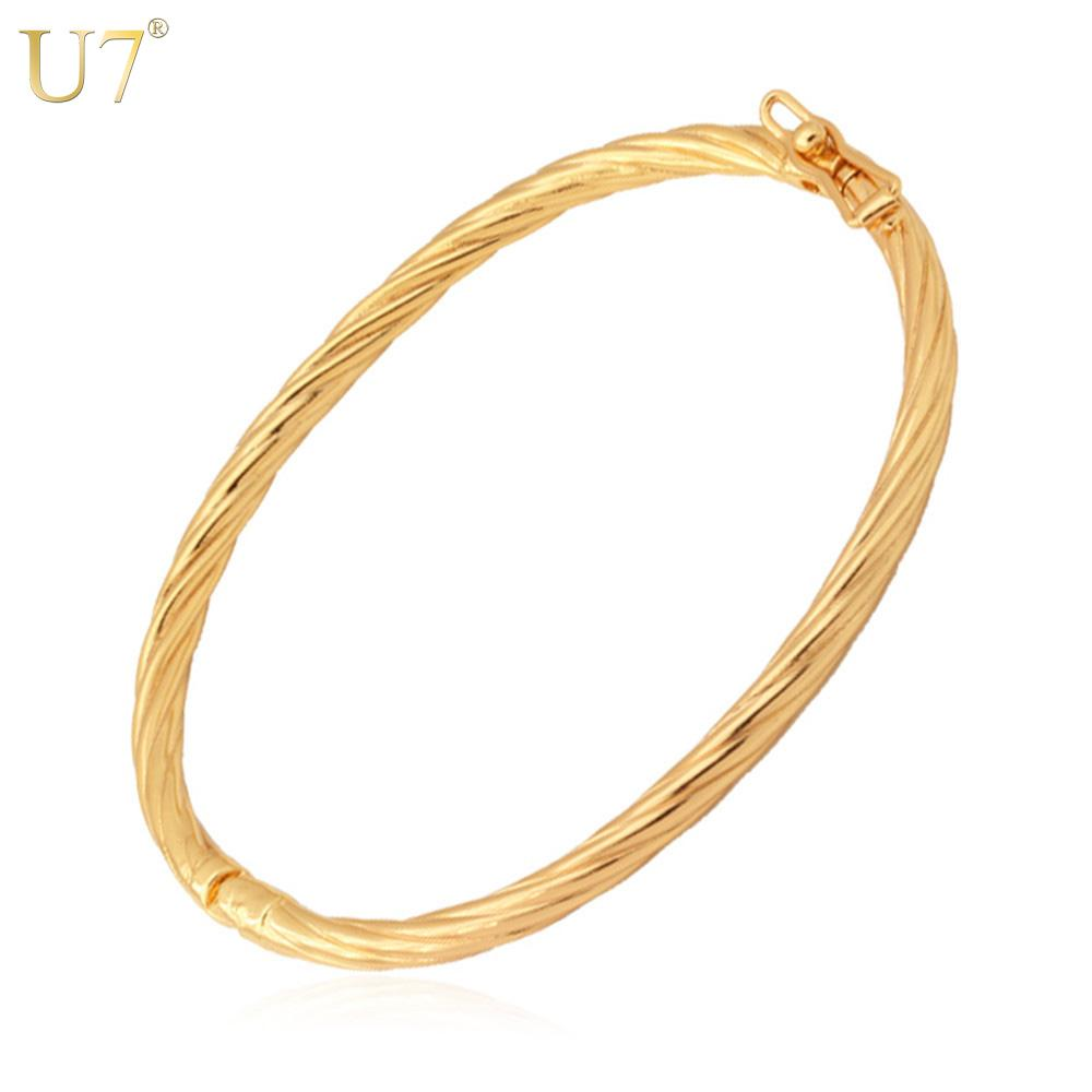 U7 Simple Design Bangles For Women/Men Trendy Jewelry Wholesale ...