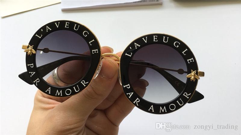 0113 delle nuove donne di alta qualità degli occhiali da sole donne sole 0113S occhiali da sole rotondi Occhiali da sole Mujer 113S lunette