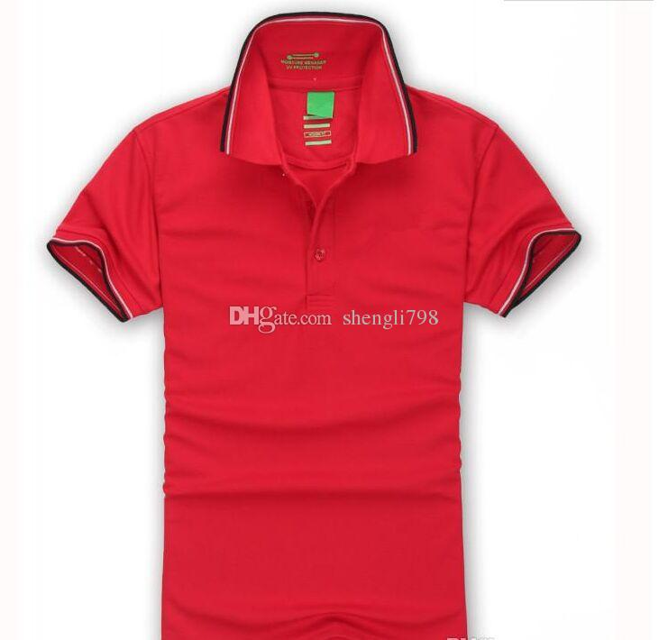 Hot Sale 2018 New Polo Shirt Men High Quality Embroidery Logo Boss