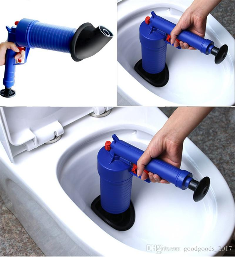 Toilet Cleaner Tools 4 Size High Pressure Air Drain Blaster Pump Plunger Sink Pipe Clog Remover Toilets Bathroom Kitchen Cleaning Tool MK331
