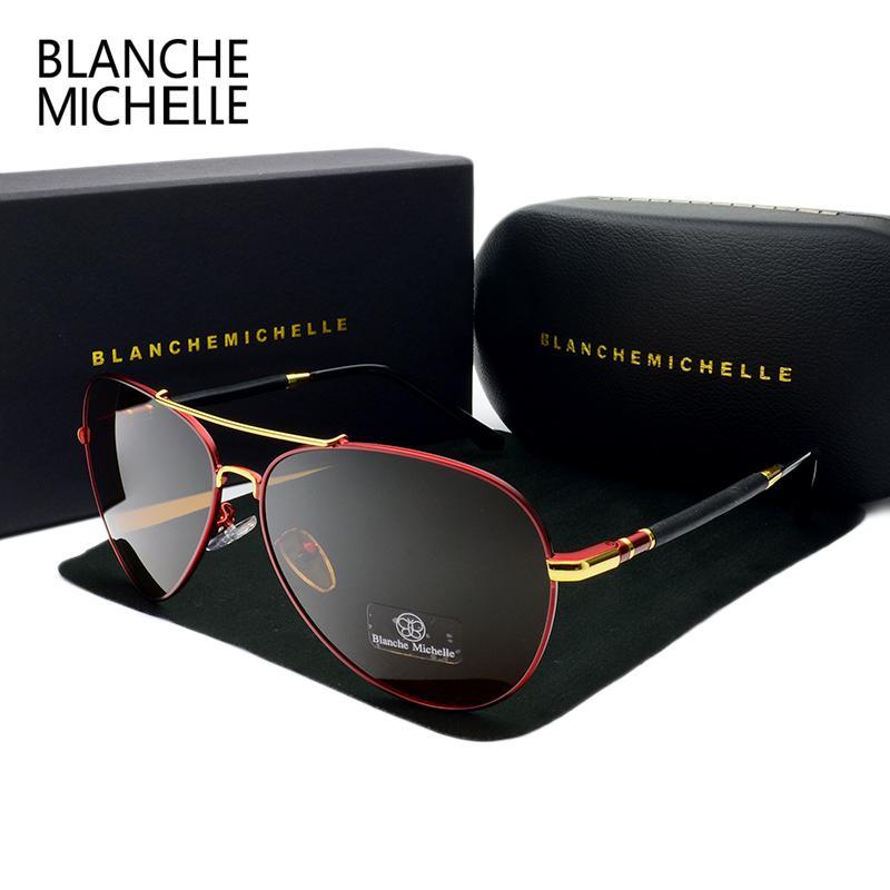 5b5b04c9a8b01 2018 High Quality Pilot Sunglasses Men Polarized UV400 Sunglass Brand  Designer Driving Sun Glasses For Man Oculos With Box Cheap Sunglasses Mens  Sunglasses ...