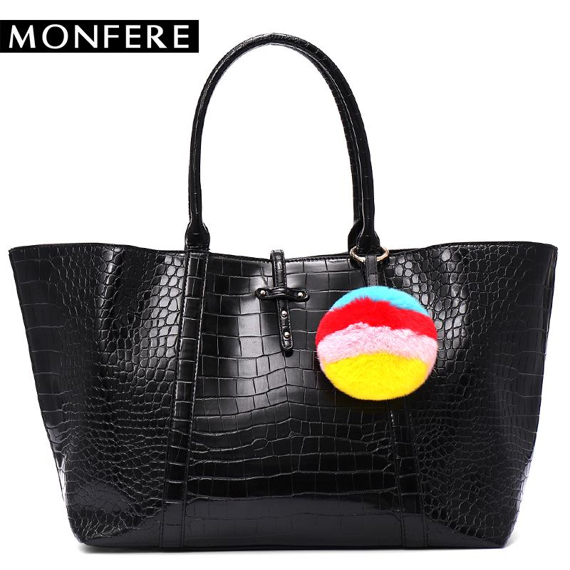 0c39977bc93 MONFER Tote Female Shopping Bags Large Capacity Women Vegan Leather Handbag  Casual Crocodile Printed Bag Top Handle Shoulder Bag Totes Crossbody Bags  From ...