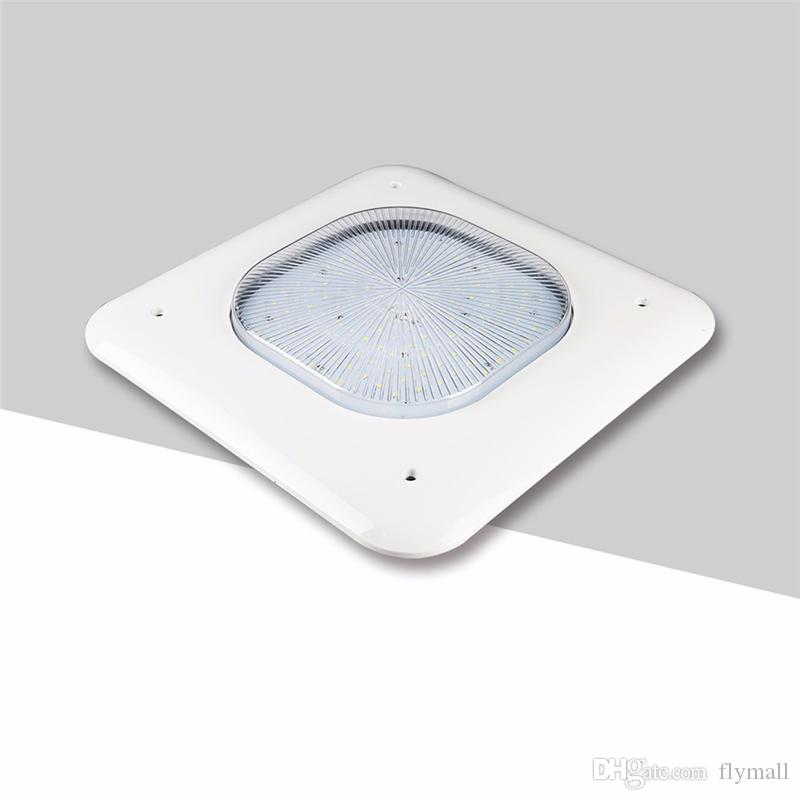 100W 130W 150W Gas Station Lamp LED Low Canopy Light Industrial Factory High Bay Meanwell driver 90-277V 110lm/W Commercial Celling Light