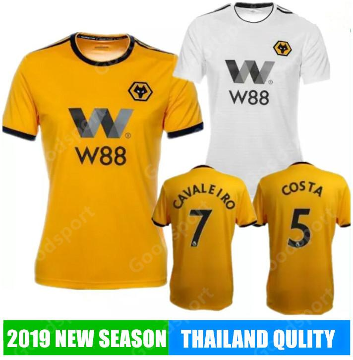 Compre 2019 WOLVES ADULTO CASA CAMISA Wolverhampton Wanderers Camisas De  Futebol De Qualidade Superior Diogo Jota Leo Costa WOLVES FC Camisa De  Futebol SR ... 427813440d18d
