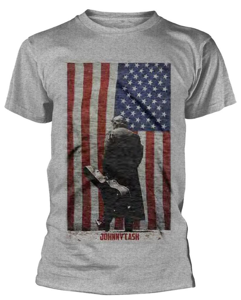 Grosshandel Johnny Cash American Flag T Shirt Neue Offizielle Neue