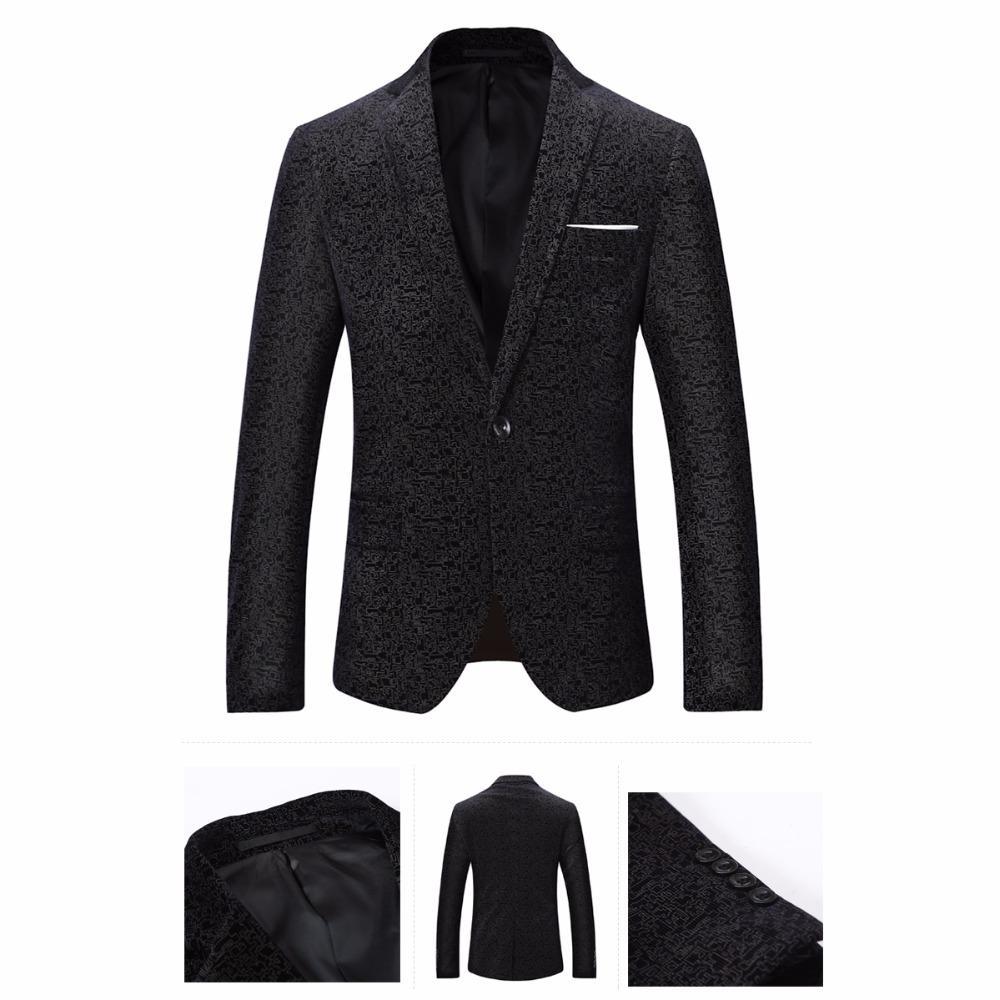 La MaxPa мода мужчины костюм пиджаки куртка мужской певец повседневная slim fit весна осень партия свадьба пром бизнес blazer конструкции