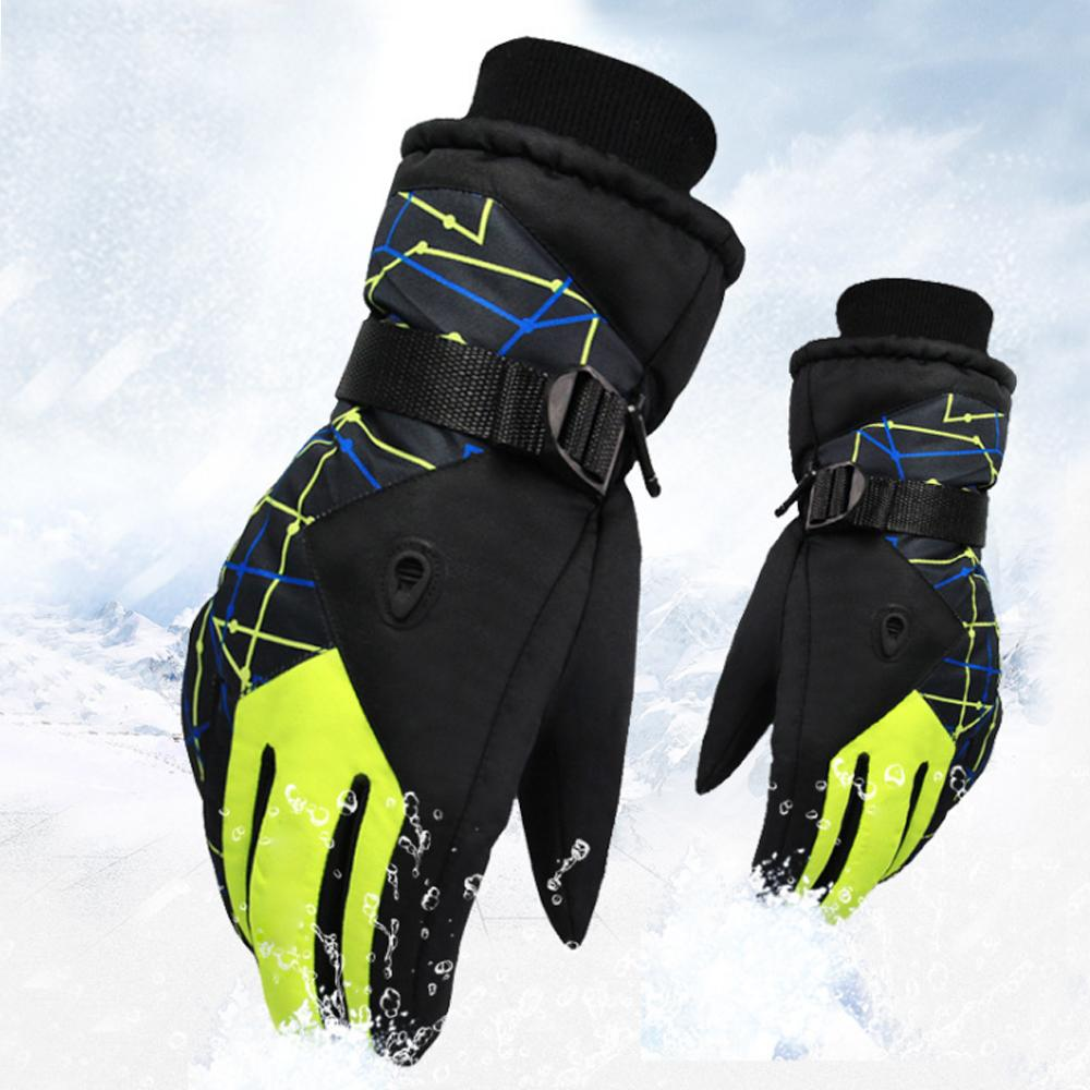 87547b2fb573 Men Women Winter Fleece Windproof Ski Gloves Outdoor Sports ...