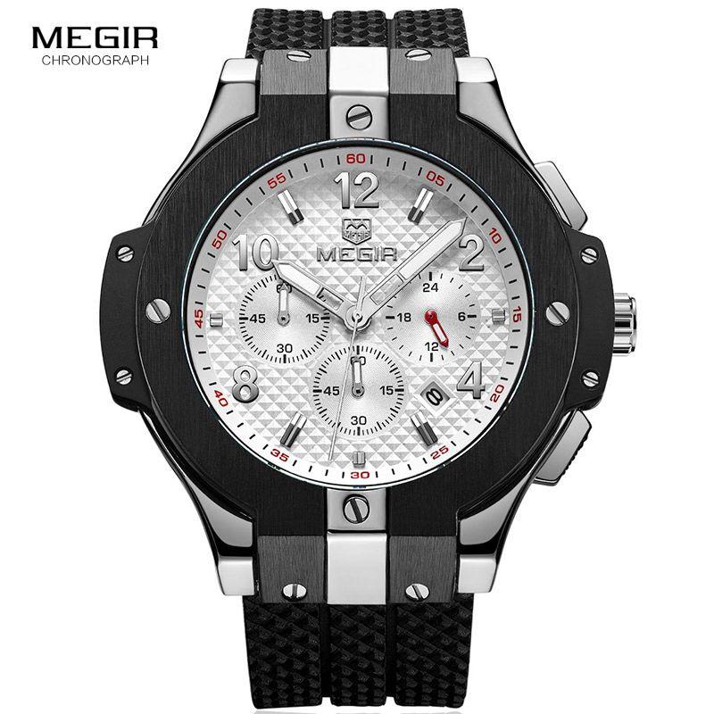 a14a411a7e6 Silicone Band Sports Quartz Wrist Watches Men Clock Army Marine Chronograph  Relogios Masculino Luminous Stop Watch Man 2050GBK 7 Buy Wrist Watch Online  ...