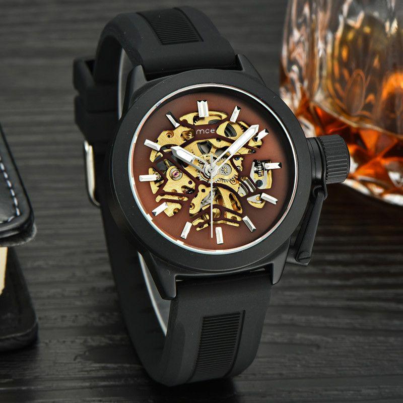 3e0630407f7b Compre Relojes Para Hombre Top Brand Luxury Hollow Skeleton Automatic Watch Hombres  Reloj Reloj Cronómetro Elegante Reloj Casual A  29.94 Del Zebrear ...