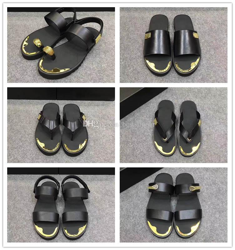 a51c942235cc4 Hot Men Casual Anti Metal Flip Flops Slide Slippers Beach Rubber Sandals  Male Slip On Slipper Summer Casual Zanottis Outdoor Leather Shoes Mens  Boots Winter ...