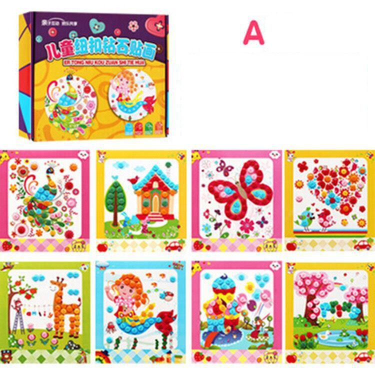 2018 DIY Kids Diamond Painting Make Your Own Family Diamond Embroidery Cross Stitch Crafts Education Kids Button Painting